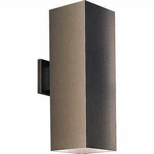 progress lighting p5644 20 square outdoor wall mount fixture With outdoor wall light mounting hardware