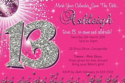 13th Birthday Invites Templates Parties