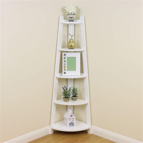 white  tier corner shelfshelving unit stand home