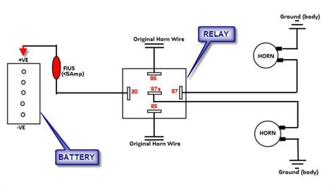 installation diagram with relay