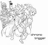 Trigger Chrono Coloring Template sketch template