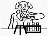 Scientist Coloring Pages Realistic Printable sketch template