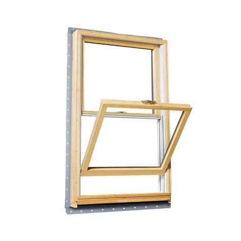 andersen       series double hung wood window  white exterior tw