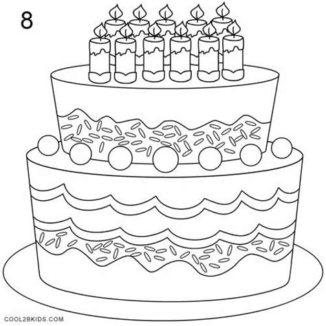 How To Draw A Birthday Cake (step By Step Pictures