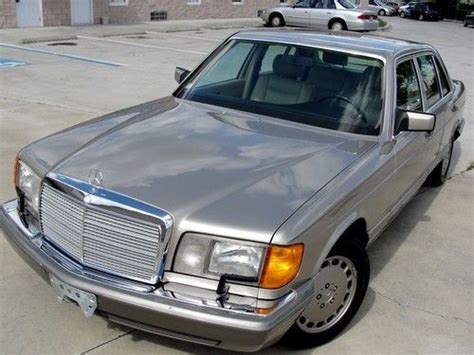 how to sell used cars 1991 mercedes benz sl class electronic toll collection find used 1991 mercedes benz 560sel no reserve auction private car runs great in ta