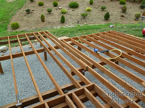 the deck joists blocking railing posts engineering a home