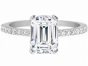 Emerald cut diamond rings pictures wedding promise for Best wedding band for emerald cut engagement ring