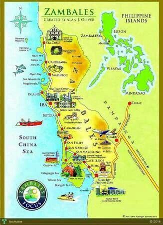 zambales map zambales   map travel tourism