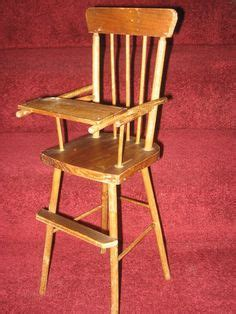 vintage cass company wood doll high chair cas vintage