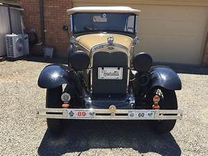 1930 Ford Model A 3 Sp Manual Convertible Carb