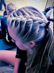 French braid ponytail!!