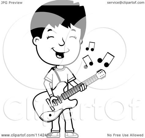 boy coloring clipart clipart of a black and white adolescent