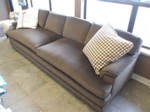Mohair Sofa by Furniture Curved Brown Leather Long Couch With Tufted