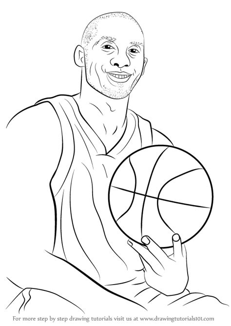 learn   draw kobe bryant basketball players step