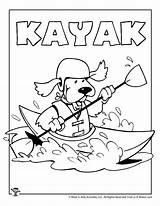 Coloring Kayak Pages Printable Patterns Printables Activities Crafts sketch template