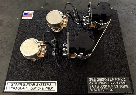 harness upgrade for gibson les paul with cts push pull pots reverb