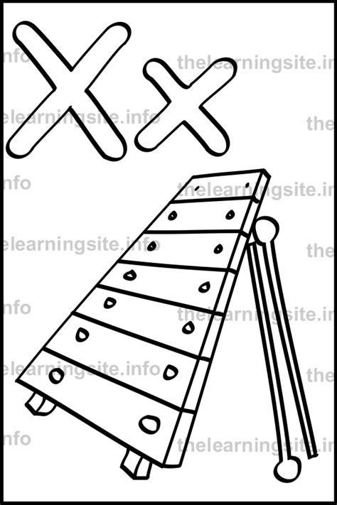 X For Coloring by The Learning Site