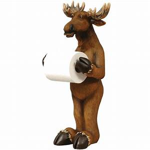 Moose Standing Toilet Paper Holder