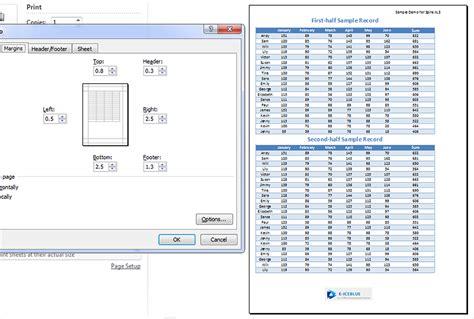 how to excel page margins before printing a worksheet