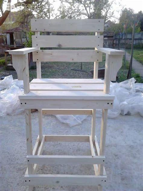 pallet bar stool tall bar chair  pallets