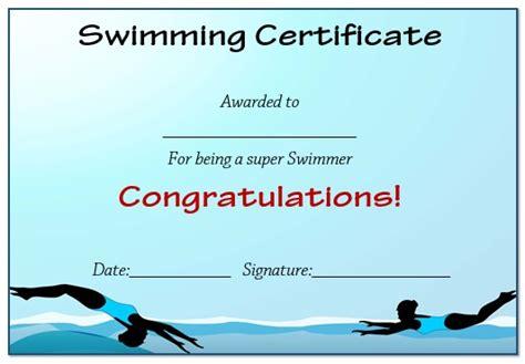 30 free swimming certificate templates printable word - Free Swimming Certificate Templates