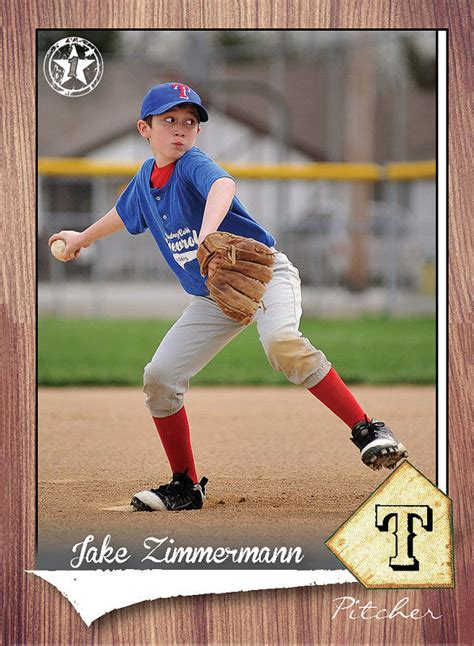 Baseball Card Template Psd