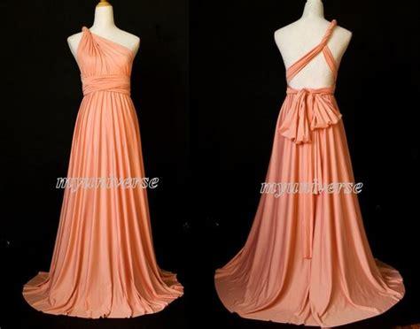 Coral Bridesmaid Dress Infinity Dress Wrap Convertible Dress