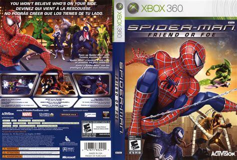 caratula de spider man friend  foe  xbox