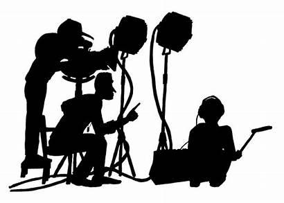 Crew Film Silhouette Videographer Editor