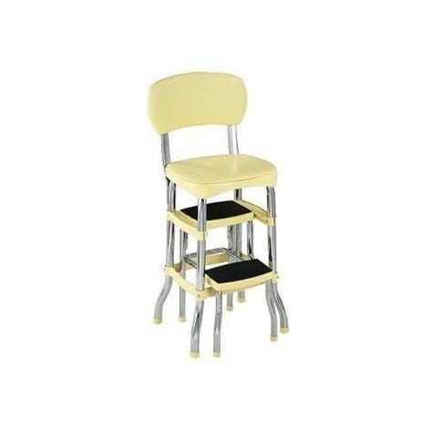 retro kitchen chair with step stool the interior design