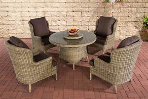 Gartenmöbel Tisch Rund : poly rattan sitzgruppe jardin natura essgruppe gartenm bel tisch kaffee rund neu ebay ~ Indierocktalk.com Haus und Dekorationen