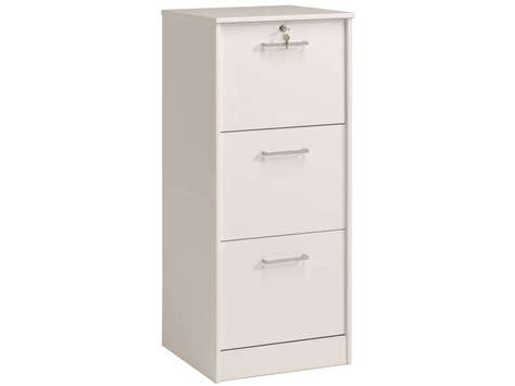 classeur rangement bureau classeur 3 tiroirs ludik coloris blanc vente de bureau à