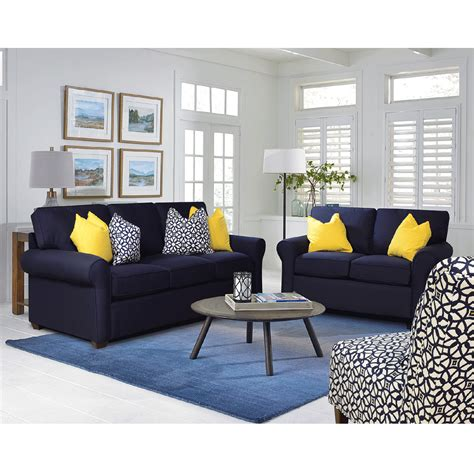 sunbrella navy sofa bernie phyls furniture