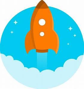 Orange Space Rocket Clip Art at Clker.com - vector clip ...