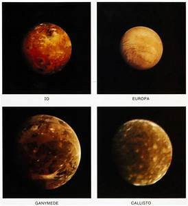 Jupiter's four 'Galilean' moons, 1979. at Science and ...