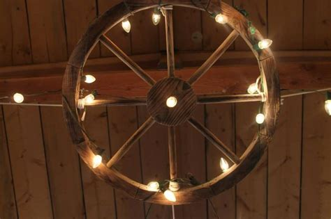wagon wheel with lights weddings at awhc