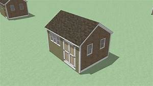 12 X 16 Storage Shed Plans Gable Roof Step By Step How To