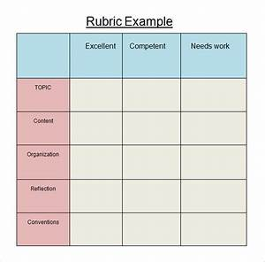 10 blank rubric samples sample templates With rubric template maker