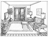 Perspective Point Drawing Line Interior Floor Sketches Plan Living Bedroom Draw Sketch Rooms Designs Paint sketch template