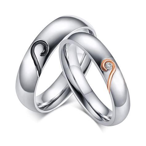 rings promise wedding couples ring heart titanium couple steel gemstone matching bands band engagement him puzzle cheap diamond personalized amazon