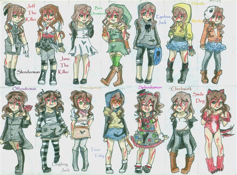 Sally Creepypasta Outfits By 1gothgrrl.deviantart.com On