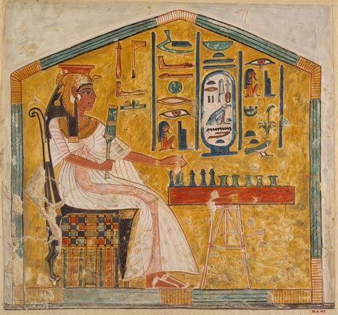 Queen Nefertari Playing Senet Tomb Of Nefertari Work Of
