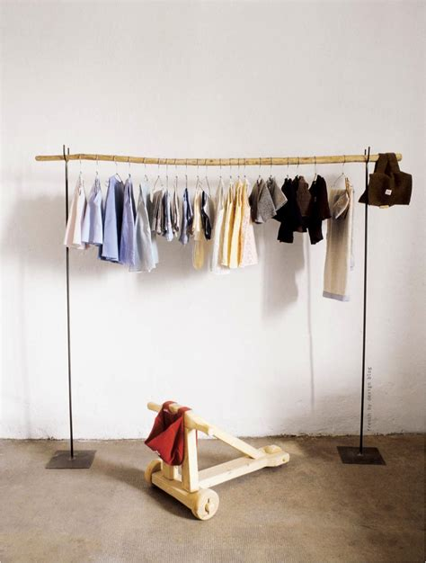creative free standing clothing hanging rods storage