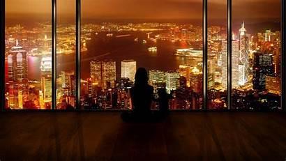 Wallpapers Kong Hong Lights Window Night Desktop