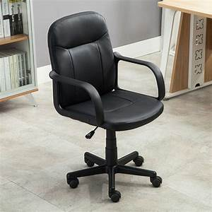 New, Modern, Office, Executive, Chair, Pu, Leather, Computer, Desk, Task, Hydraulic, Black