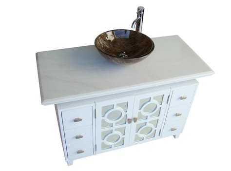 48 inch bathroom vanity right side sink adelina 48 inch white finish vessel sink bathroom vanity