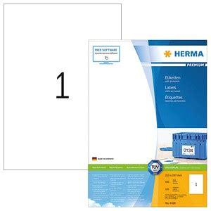 100 HERMA Etiketten 4428 weiß günstig online kaufen