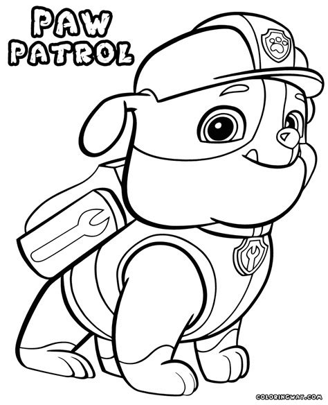 Chase Paw Patrol Coloring Pages at GetDrawings Free download