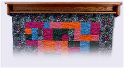 custom quilt hanger  shelf wall mounted oak wood quilt racks