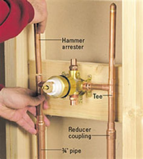 Filter For Bathtub Faucet by Hooking Up A Shower Or Tub Faucet How To Install A New